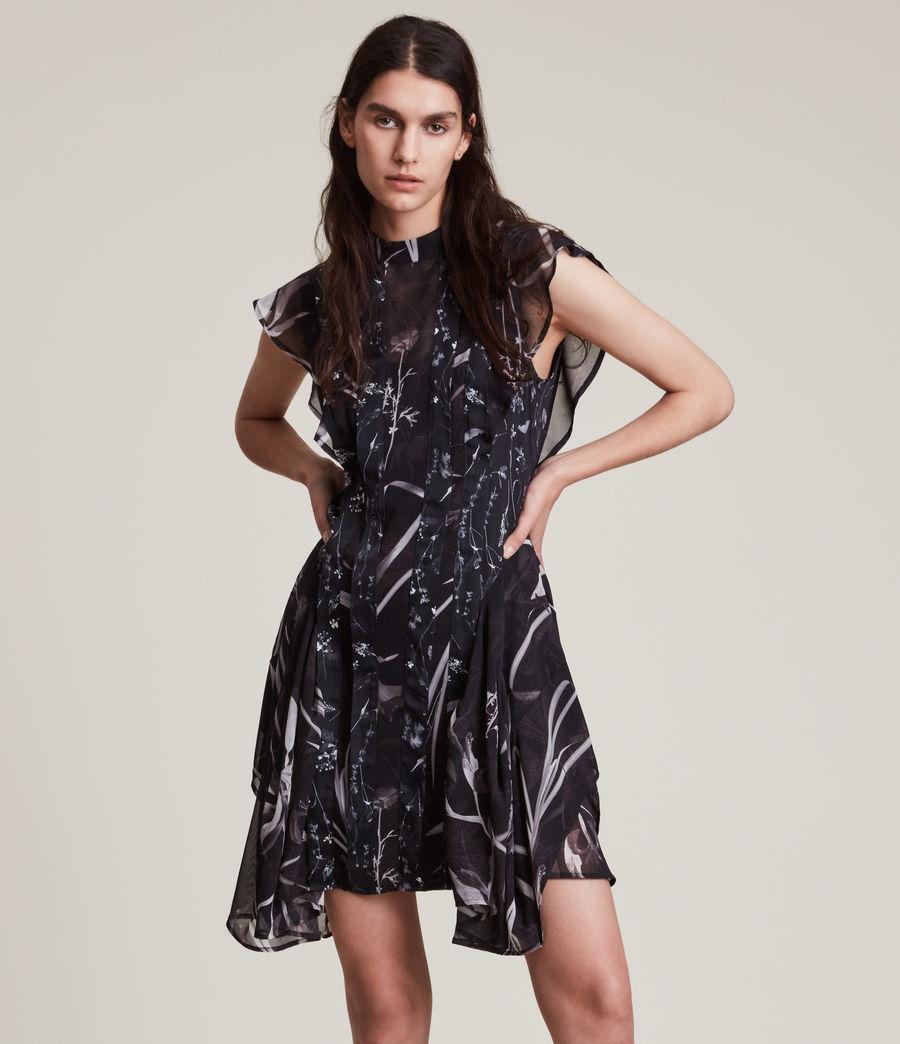 Women's Fleur Rutland Dress (black) - Image 1