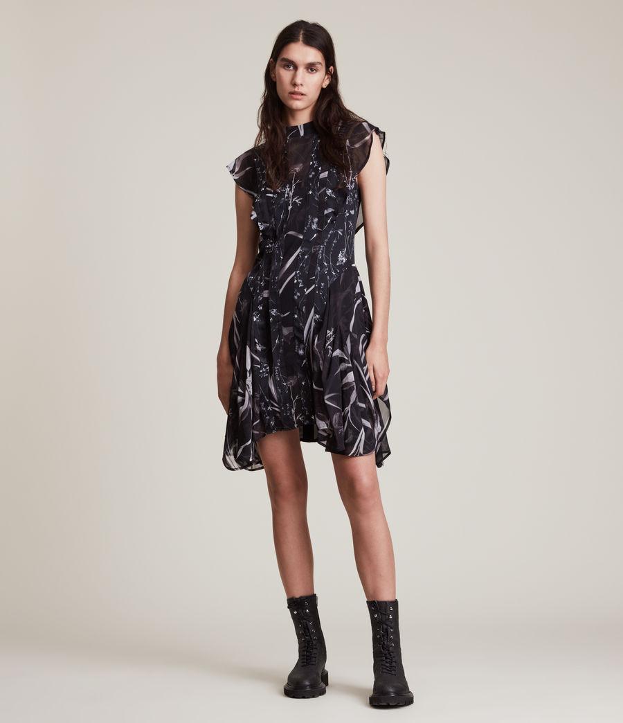 Women's Fleur Rutland Dress (black) - Image 3