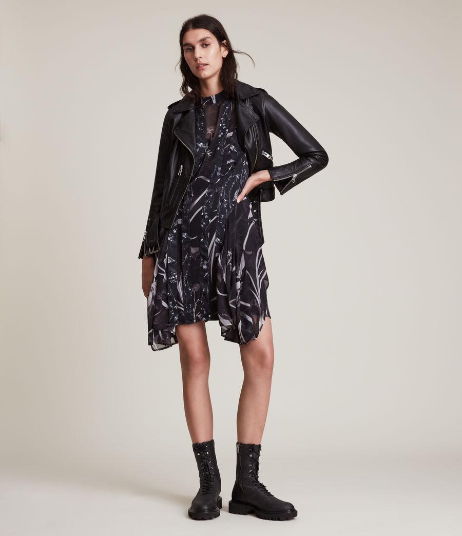 Women's Fleur Rutland Dress (black) - Image 4