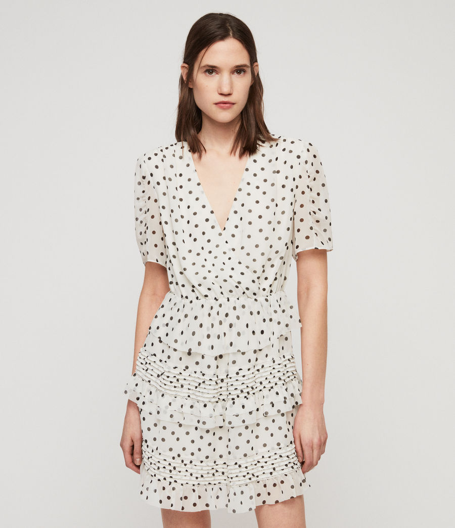 Women's Ilia Dot Dress (white_black) - Image 1