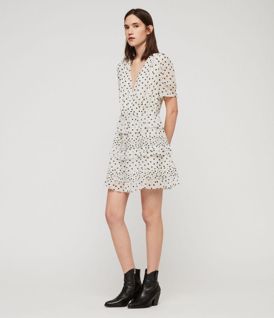 Women's Ilia Dot Dress (white_black) - Image 2