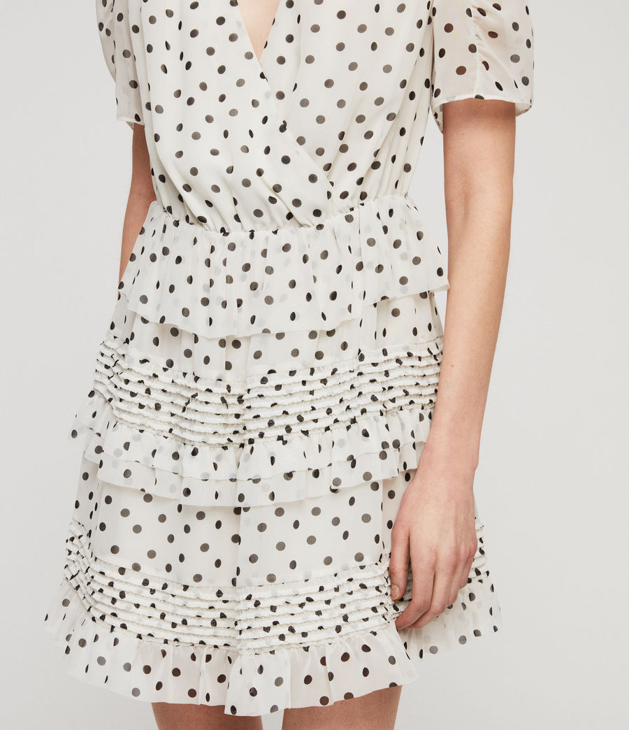 Women's Ilia Dot Dress (white_black) - Image 3