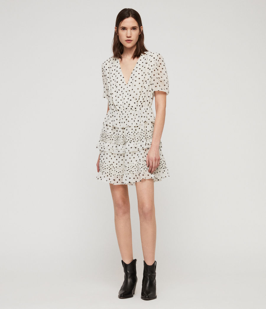 Women's Ilia Dot Dress (white_black) - Image 5
