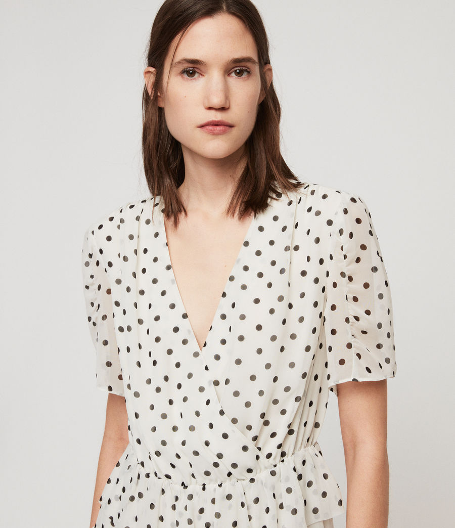 Women's Ilia Dot Dress (white_black) - Image 6