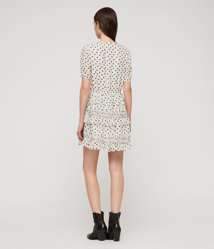 Women's Ilia Dot Dress (white_black) - Image 7