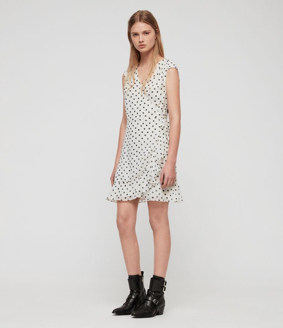 Women's Krystal Dot Dress (white_black) - Image 1