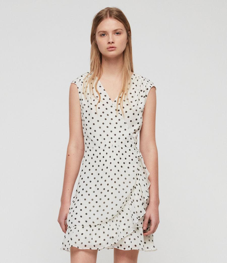 Women's Krystal Dot Dress (white_black) - Image 2