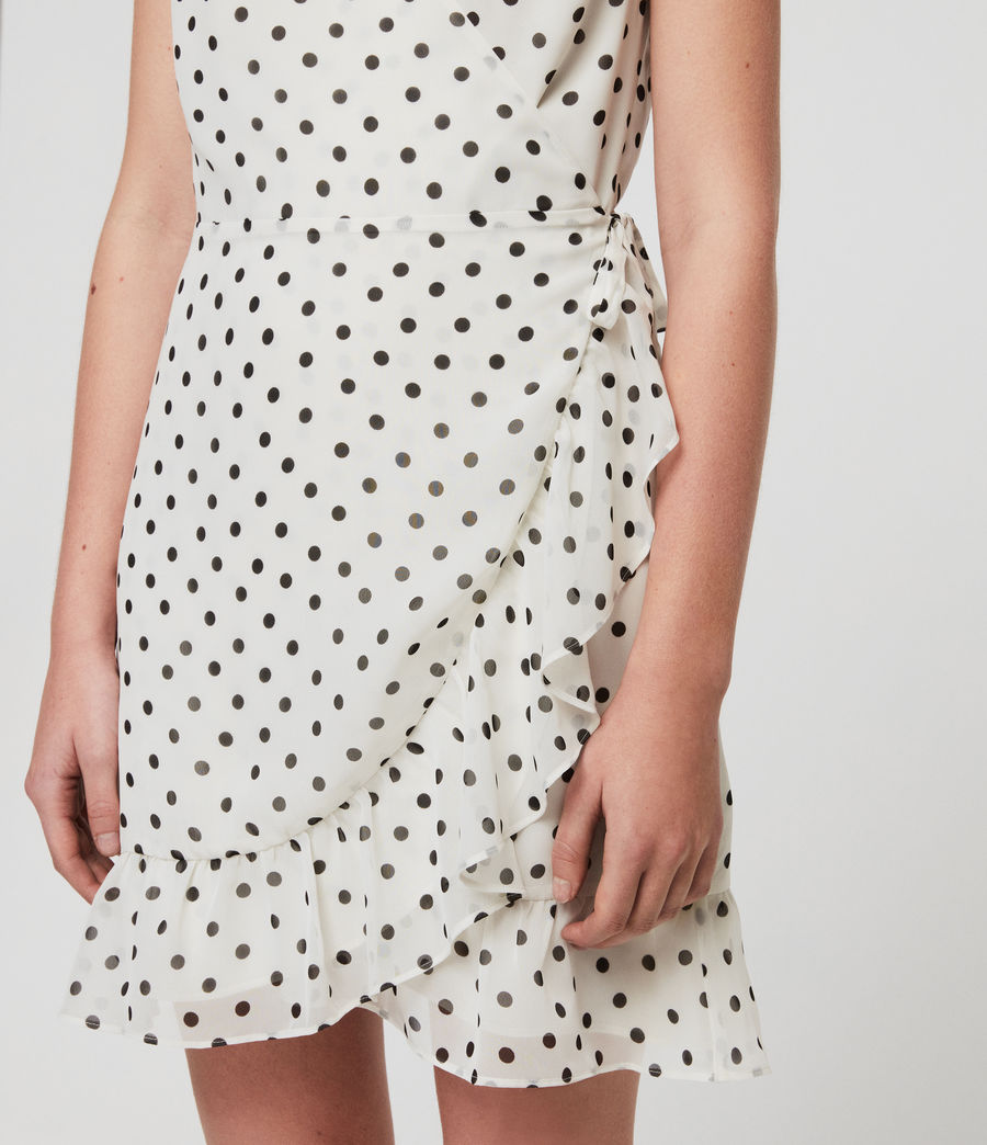 Mujer Vestido Krystal Dot (white_black) - Image 3