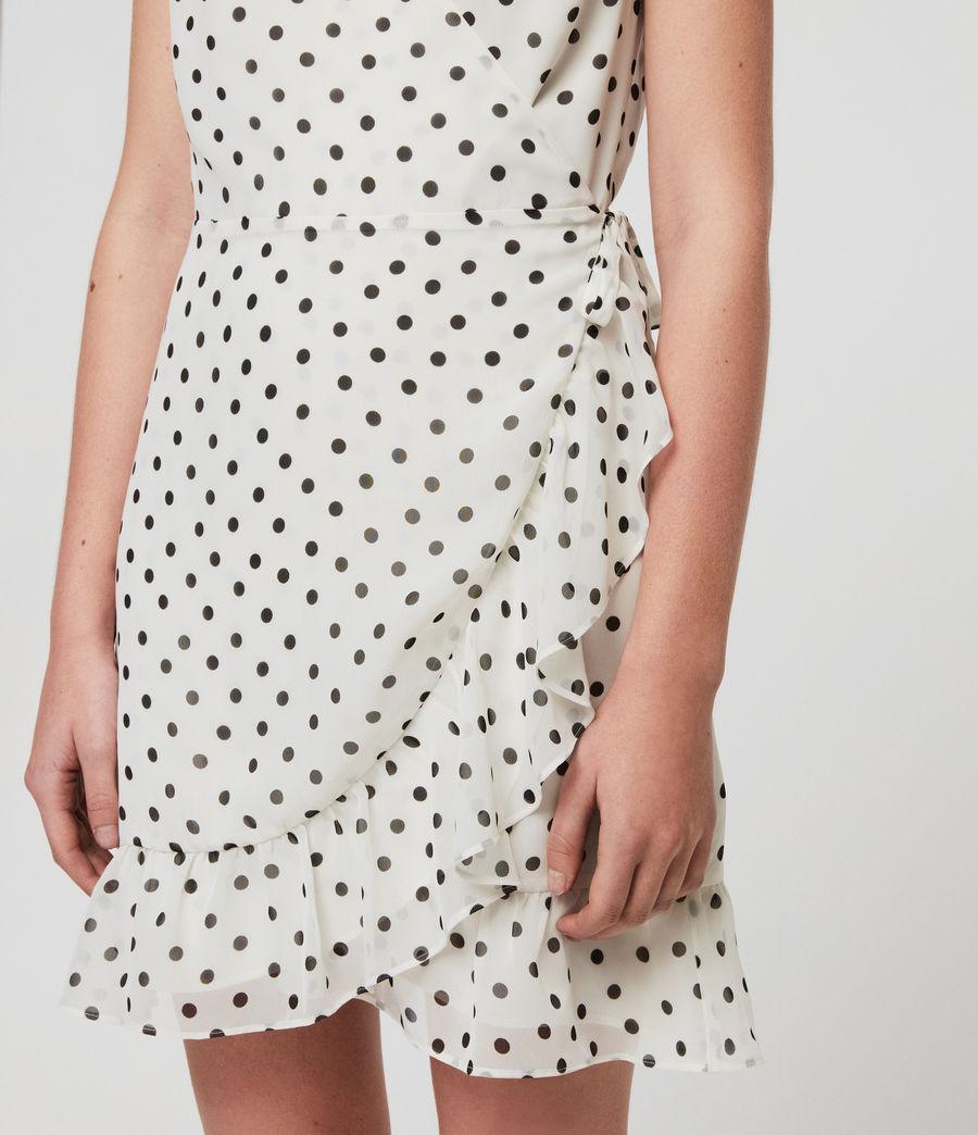 Women's Krystal Dot Dress (white_black) - Image 3
