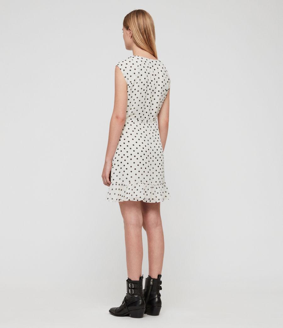 Women's Krystal Dot Dress (white_black) - Image 4