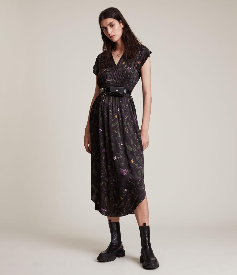 Women's Leila Heligan Silk Blend Dress (black) - Image 1