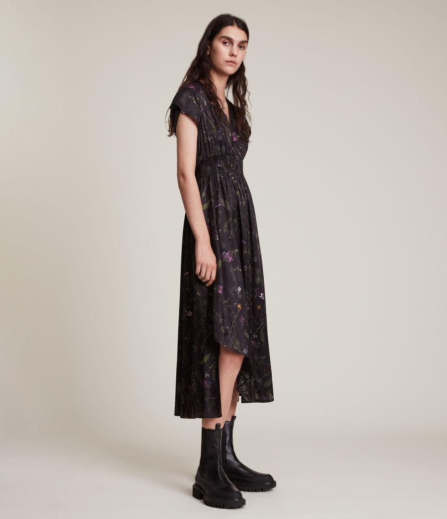 Women's Leila Heligan Silk Blend Dress (black) - Image 3