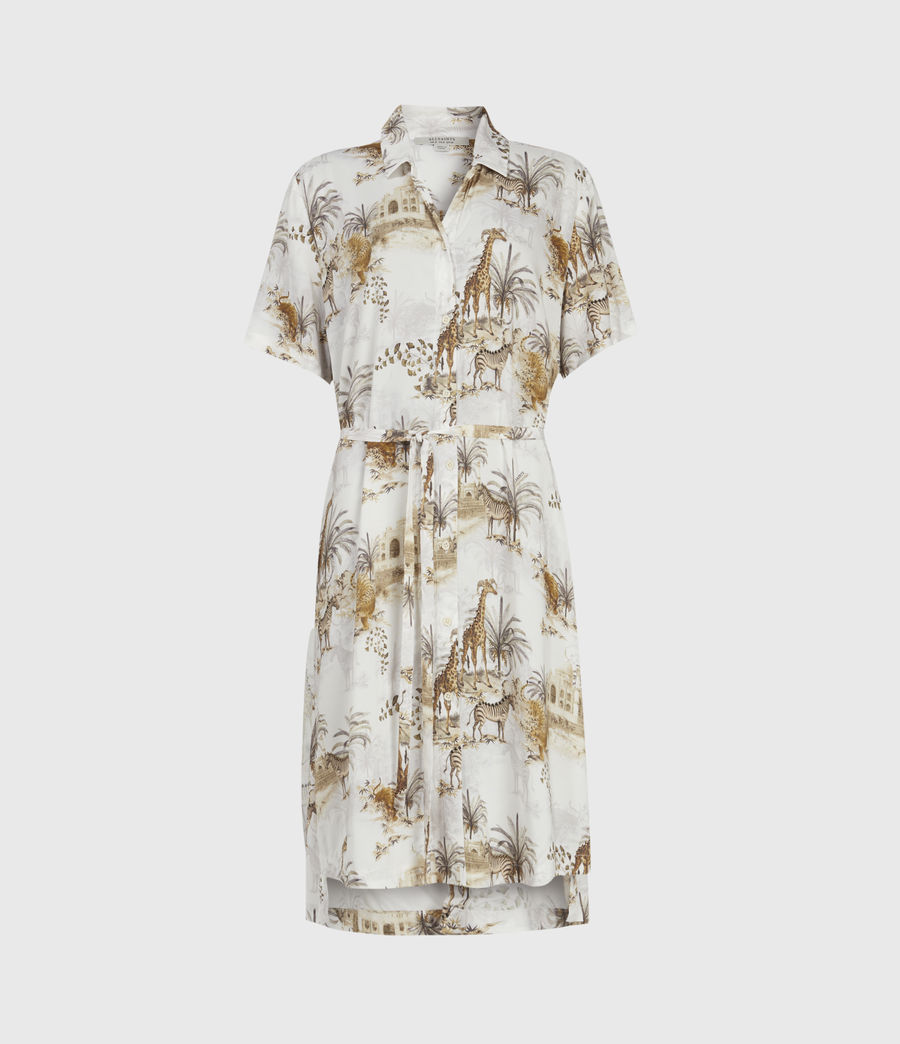 Damen Athea Tajpur Dress (haze_white) - Image 1
