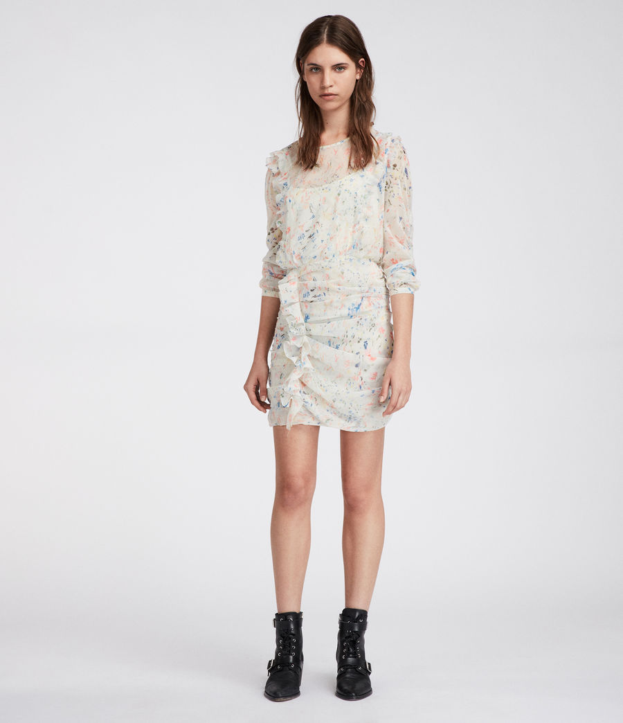 Mujer Vestido Flint Juni (chalk_white) - Image 1