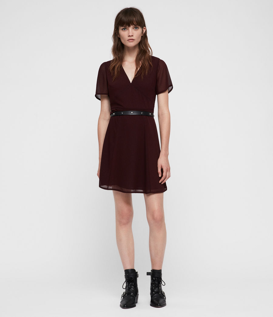 Women's Lucia Dress (bordeaux_red) - Image 1