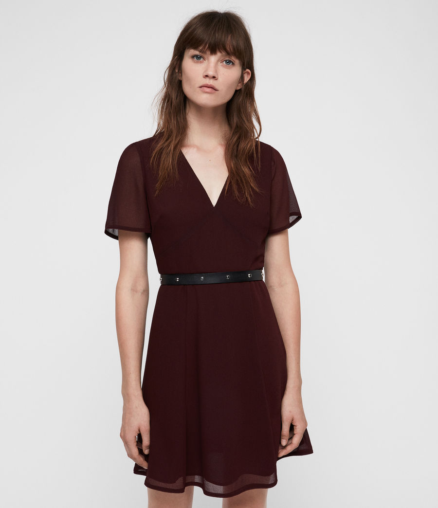 Women's Lucia Dress (bordeaux_red) - Image 3
