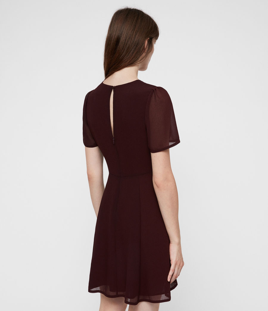Women's Lucia Dress (bordeaux_red) - Image 4