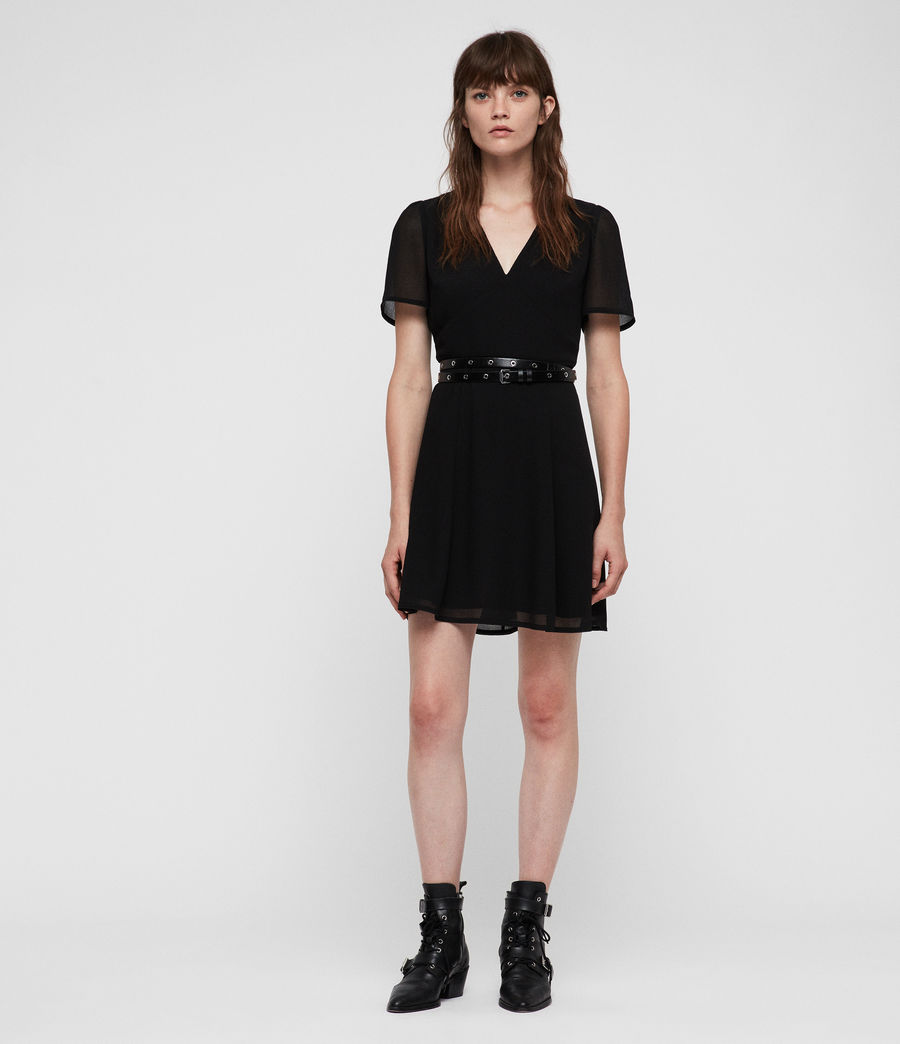 Womens Lucia Dress (black) - Image 1