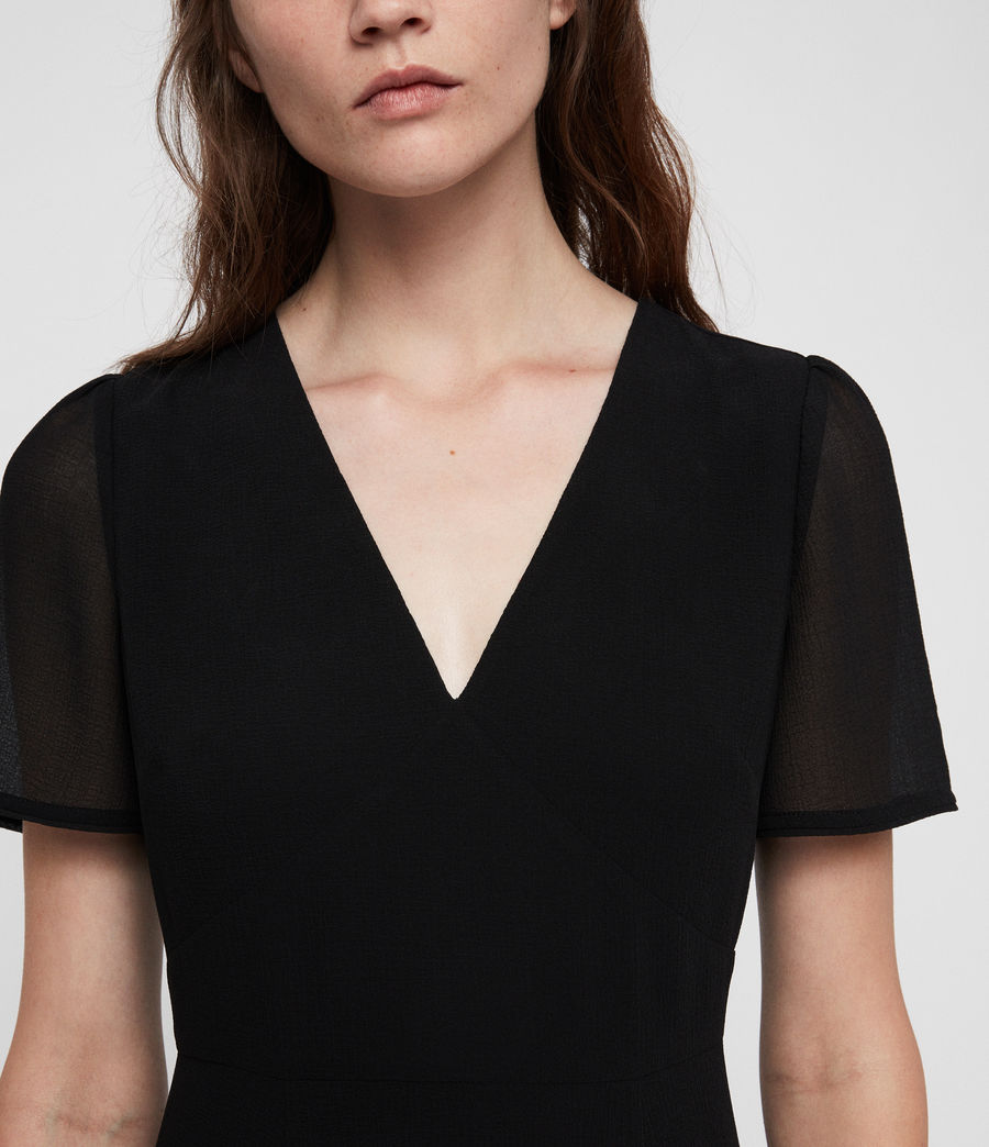 Womens Lucia Dress (black) - Image 2