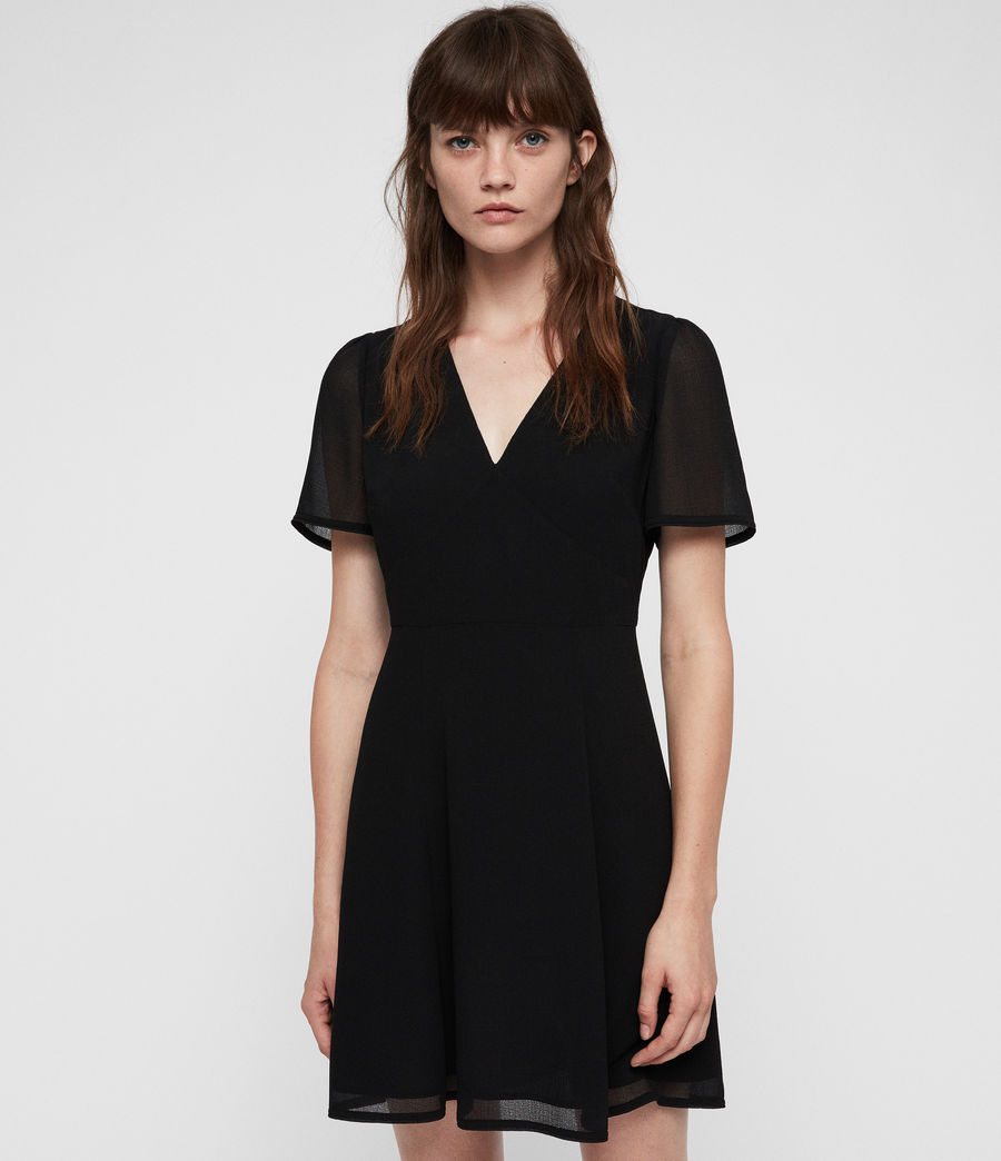 Womens Lucia Dress (black) - Image 3