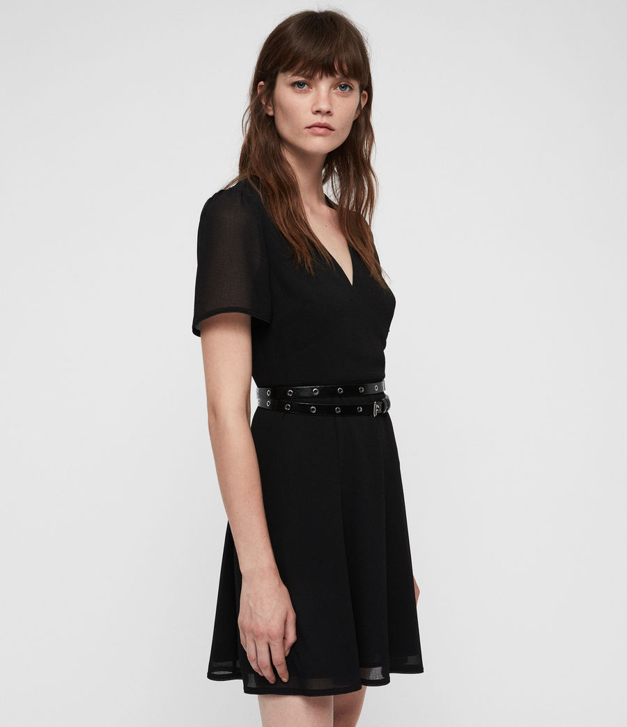 Womens Lucia Dress (black) - Image 4