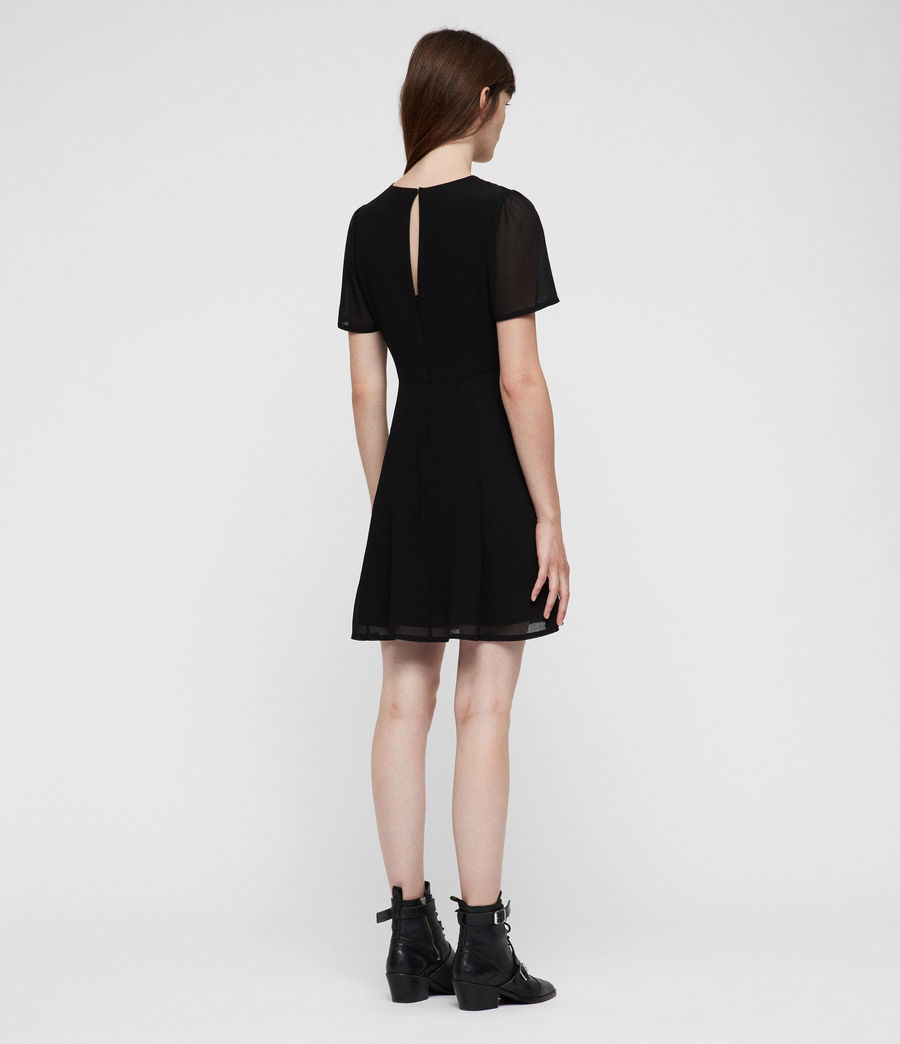 Womens Lucia Dress (black) - Image 5