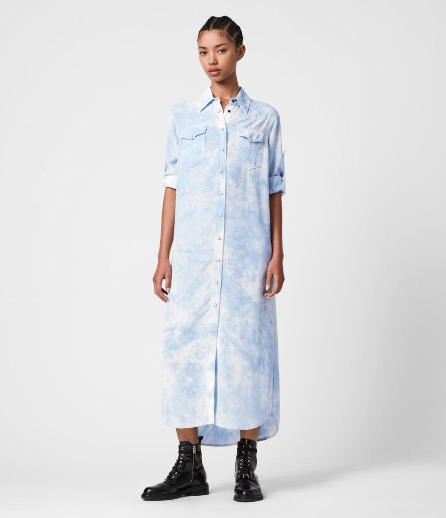 Damen Aliza Batik Kleid (sky_blue) - Image 1