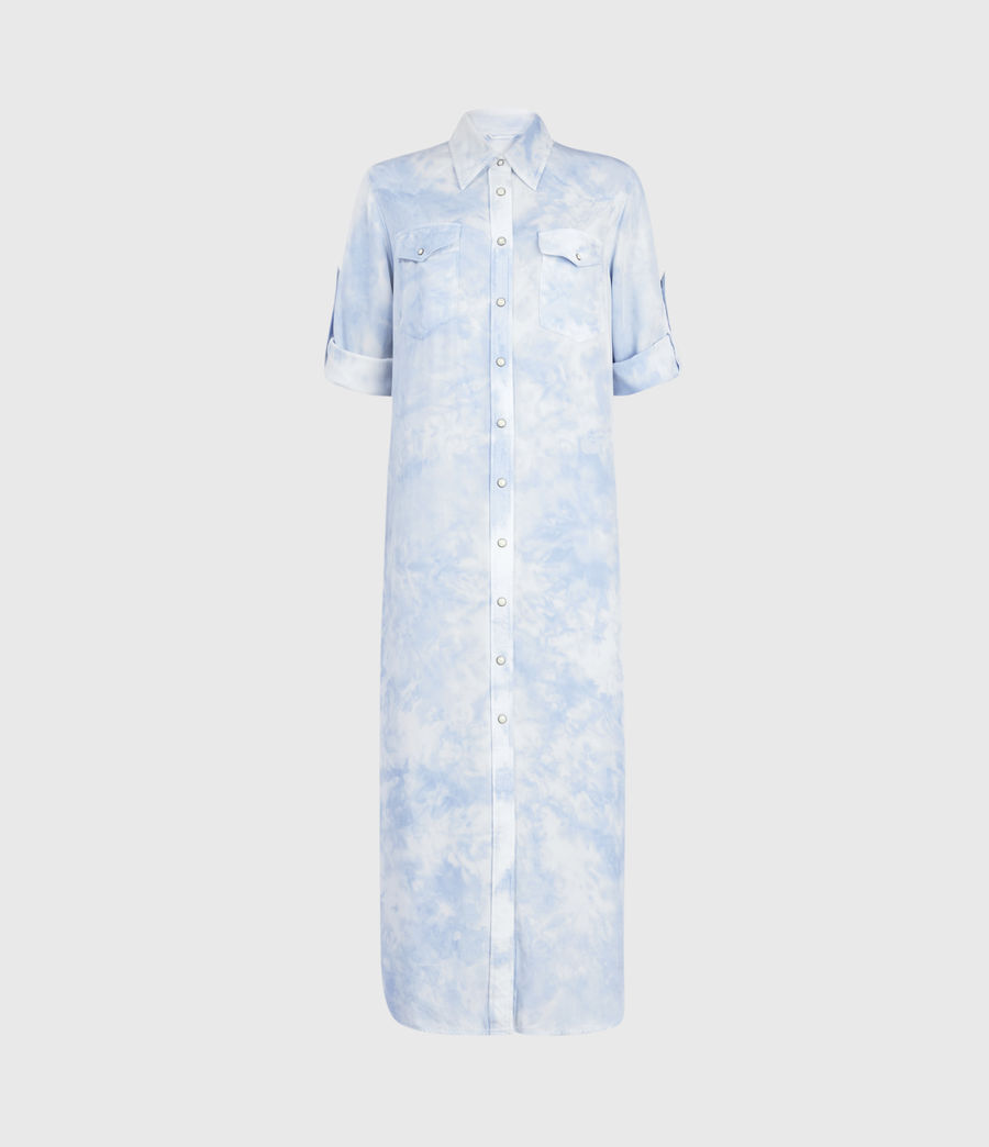 Womens Aliza Tie Dye Dress (sky_blue) - Image 2