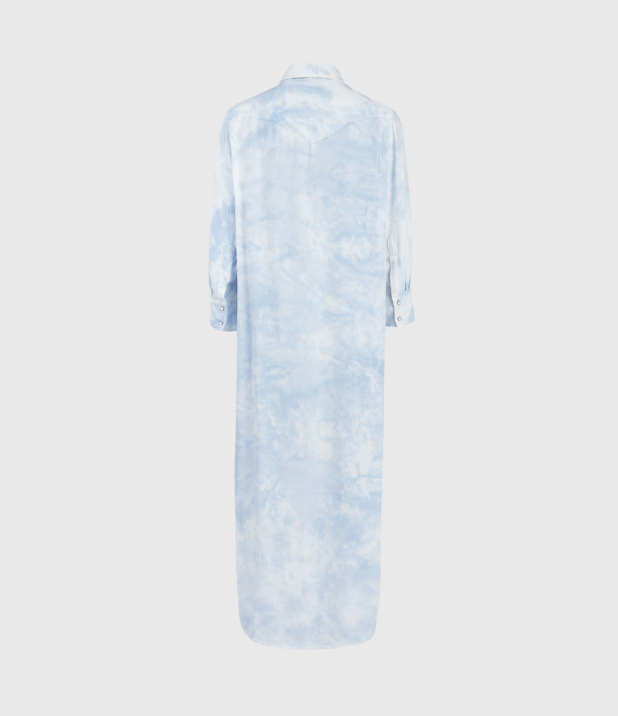 Womens Aliza Tie Dye Dress (sky_blue) - Image 3