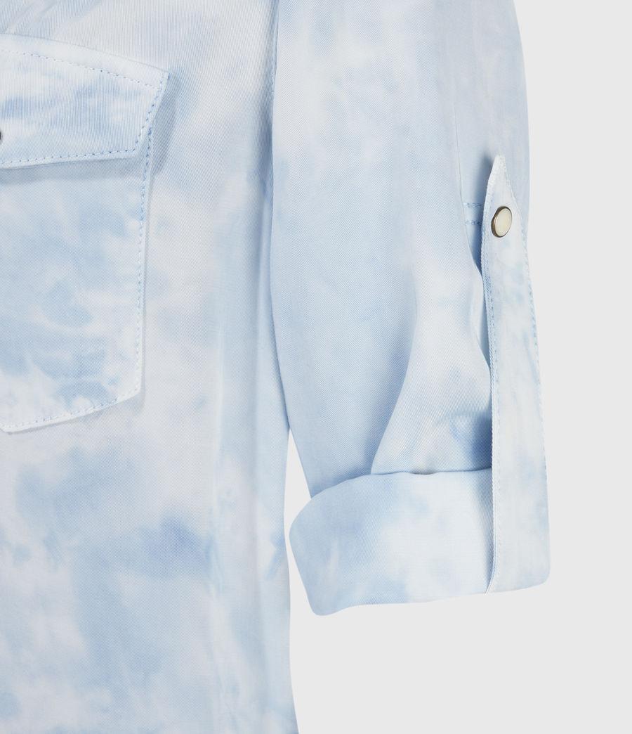 Womens Aliza Tie Dye Dress (sky_blue) - Image 5
