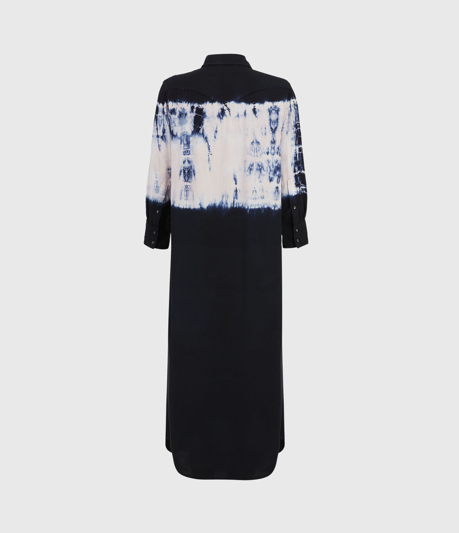 Womens Aliza Tie Dye Dress (ink_blue) - Image 2