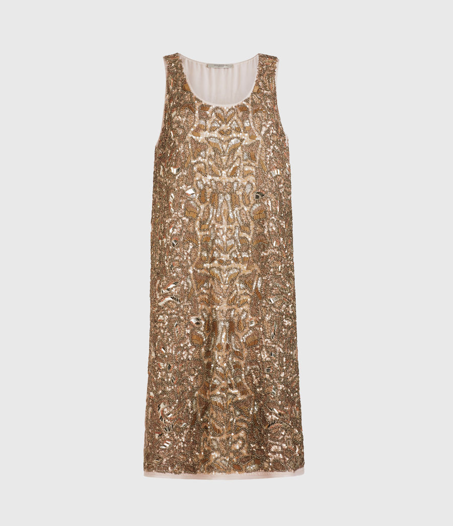 Womens Brellie Embellished Dress (gold) - Image 2