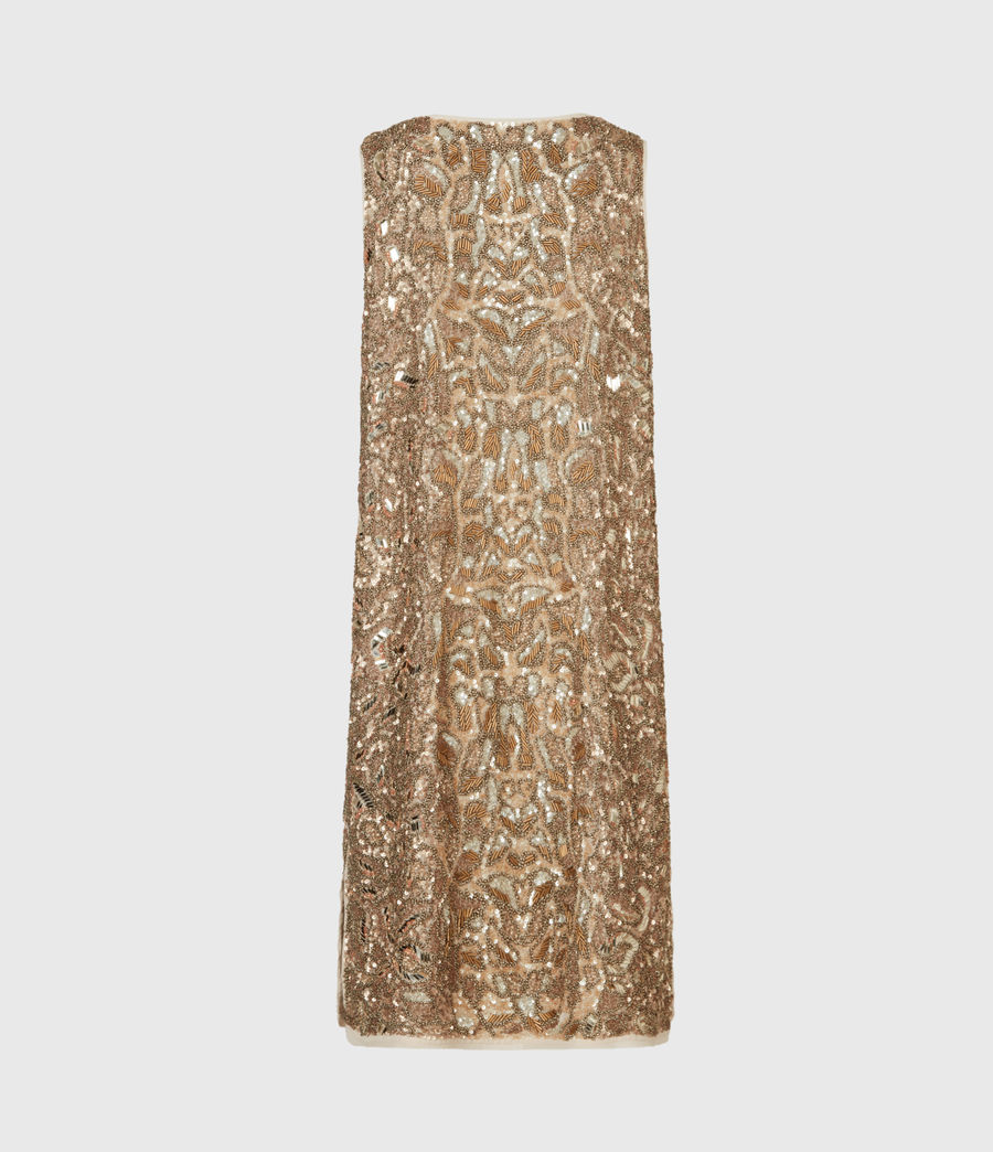 Womens Brellie Embellished Dress (gold) - Image 3