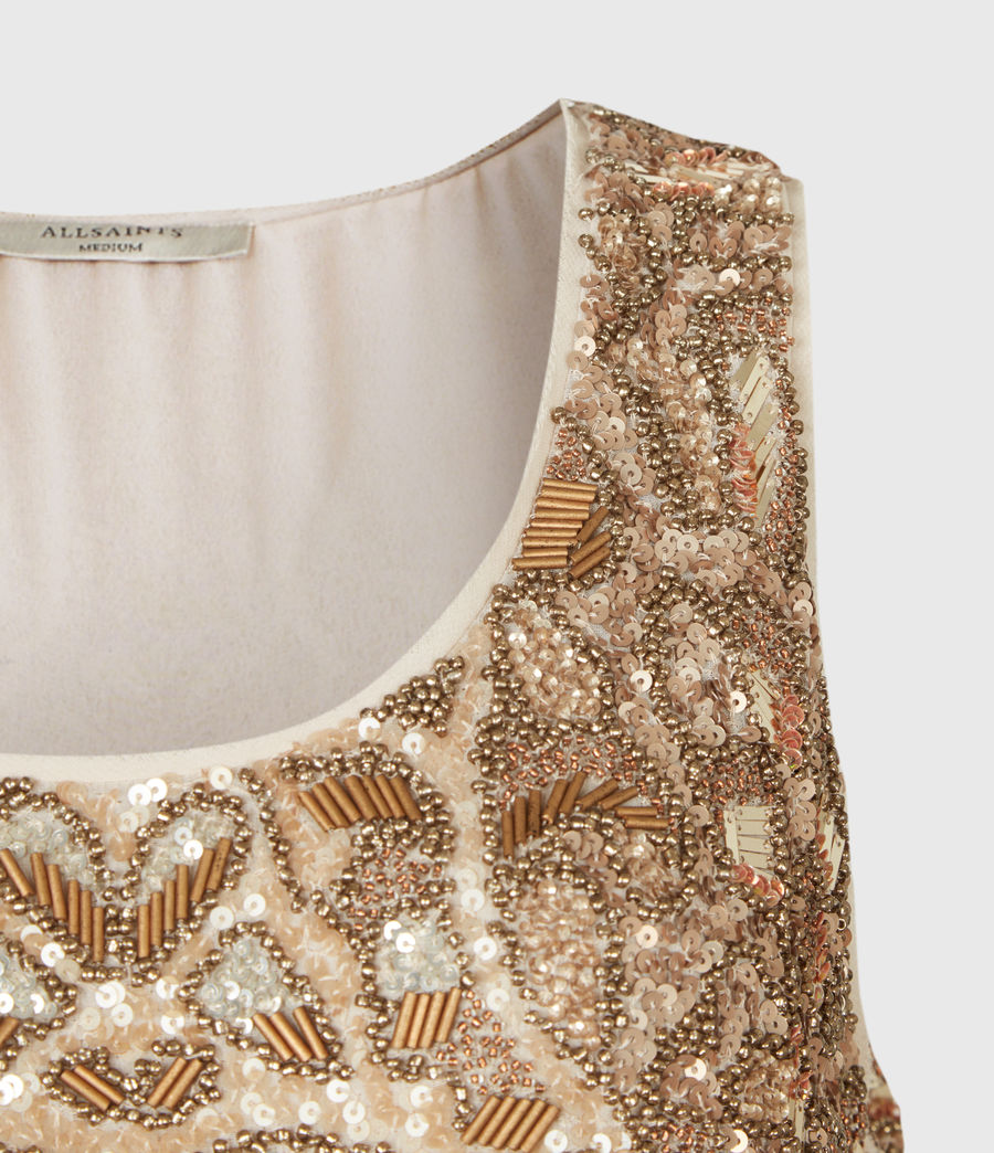 Womens Brellie Embellished Dress (gold) - Image 4