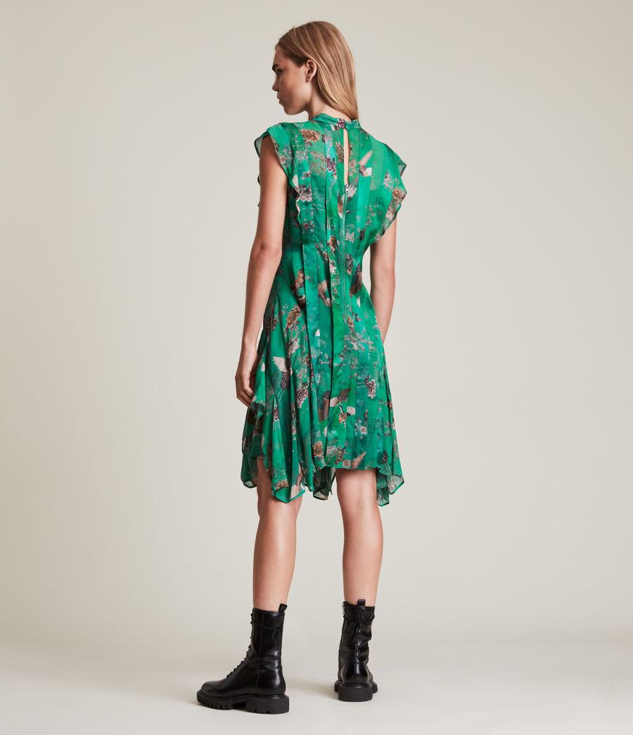 Women's Fleur Amare Silk Blend Dress (velvet_green) - Image 5