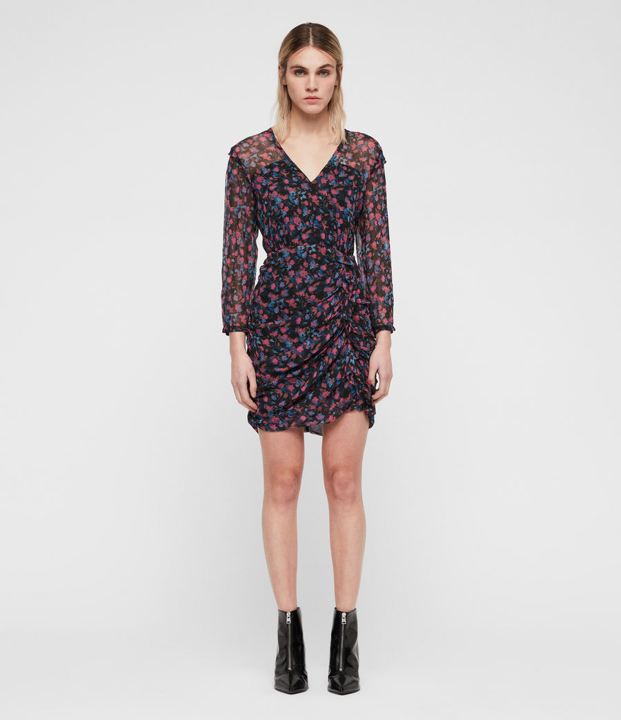 Womens Harlow Asa Dress (black) - Image 3
