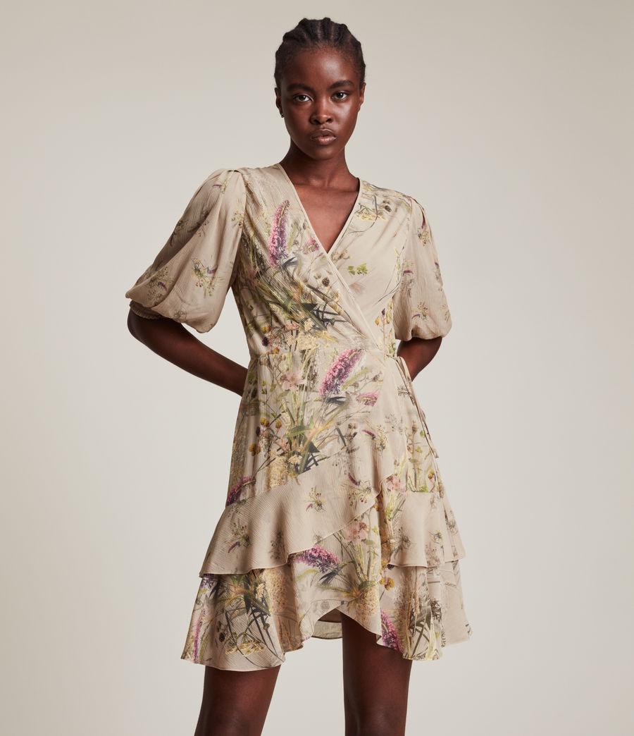 Women's Ari Caledonian Dress (khaki_green) - Image 4