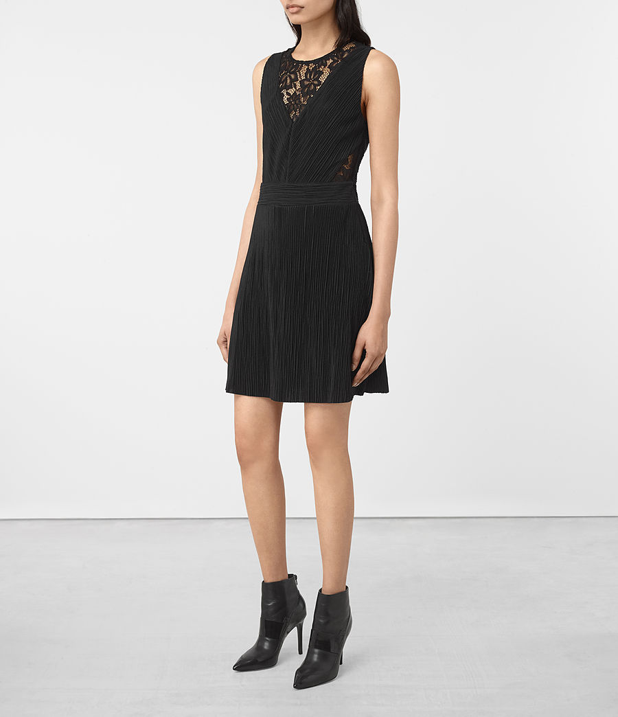 Womens Ula Dress (black) - Image 3