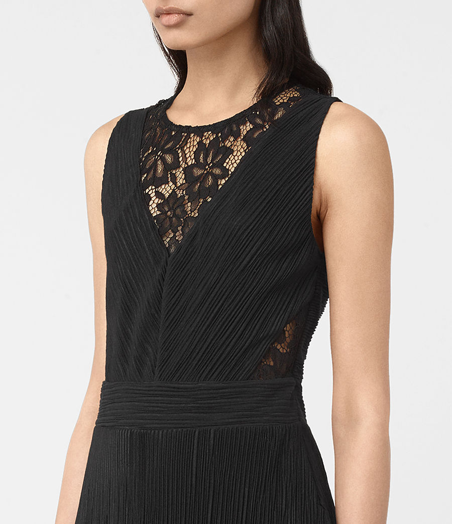 Womens Ula Dress (black) - Image 4