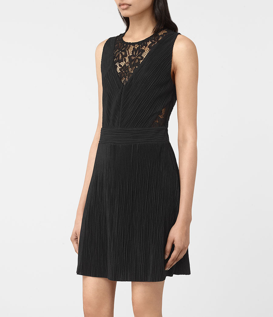 Womens Ula Dress (black) - Image 5