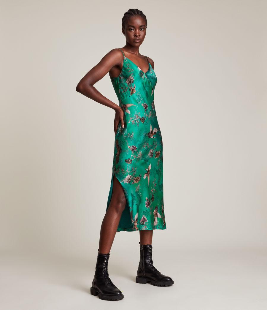 Women's Melody Amare Silk Blend Dress (velvet_green) - Image 2