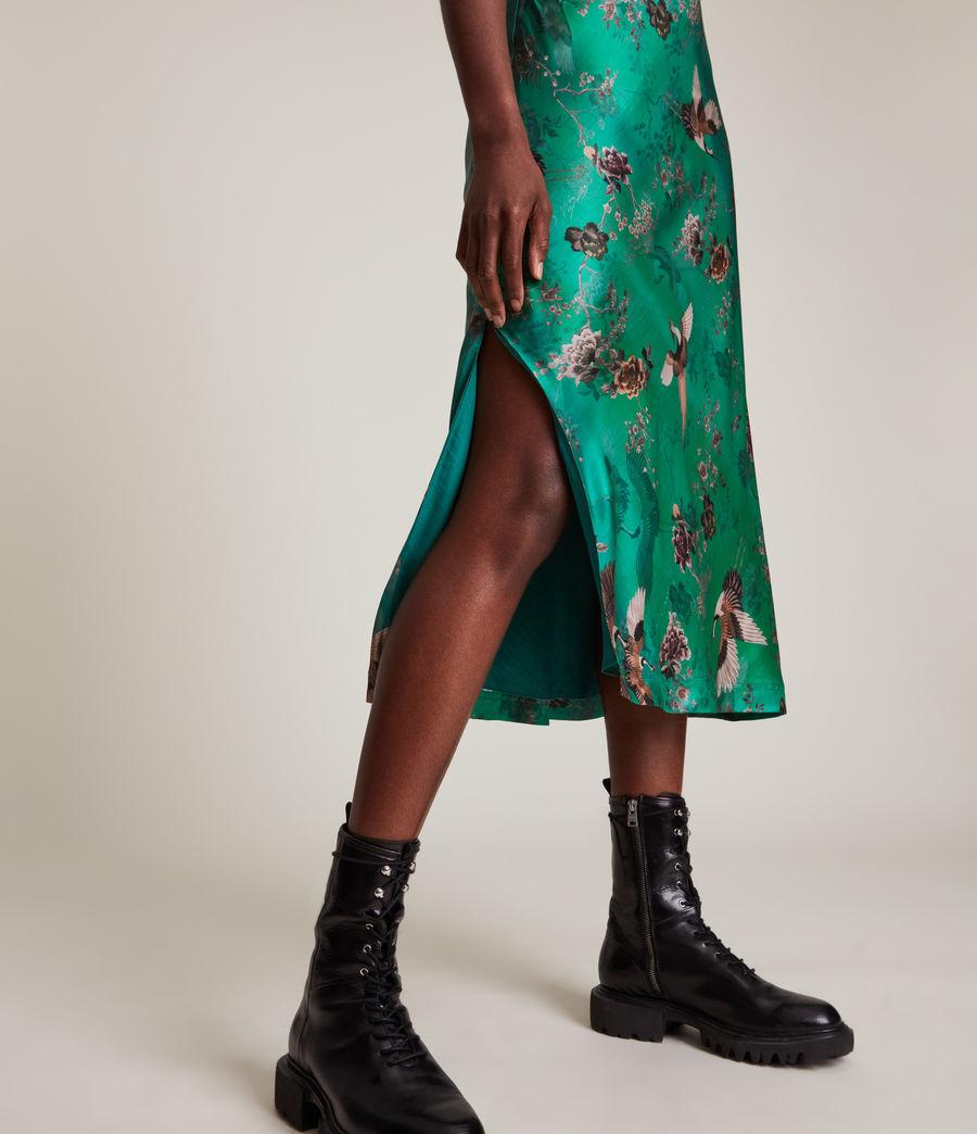 Women's Melody Amare Silk Blend Dress (velvet_green) - Image 5