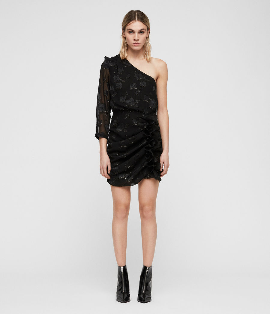 Damen Maddie Flora Kleid (black_gold) - Image 3