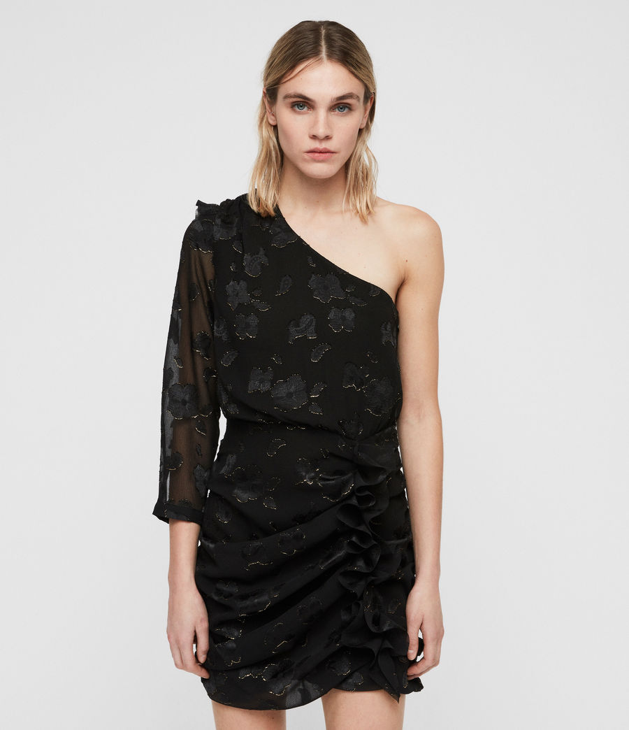 Damen Maddie Flora Kleid (black_gold) - Image 4