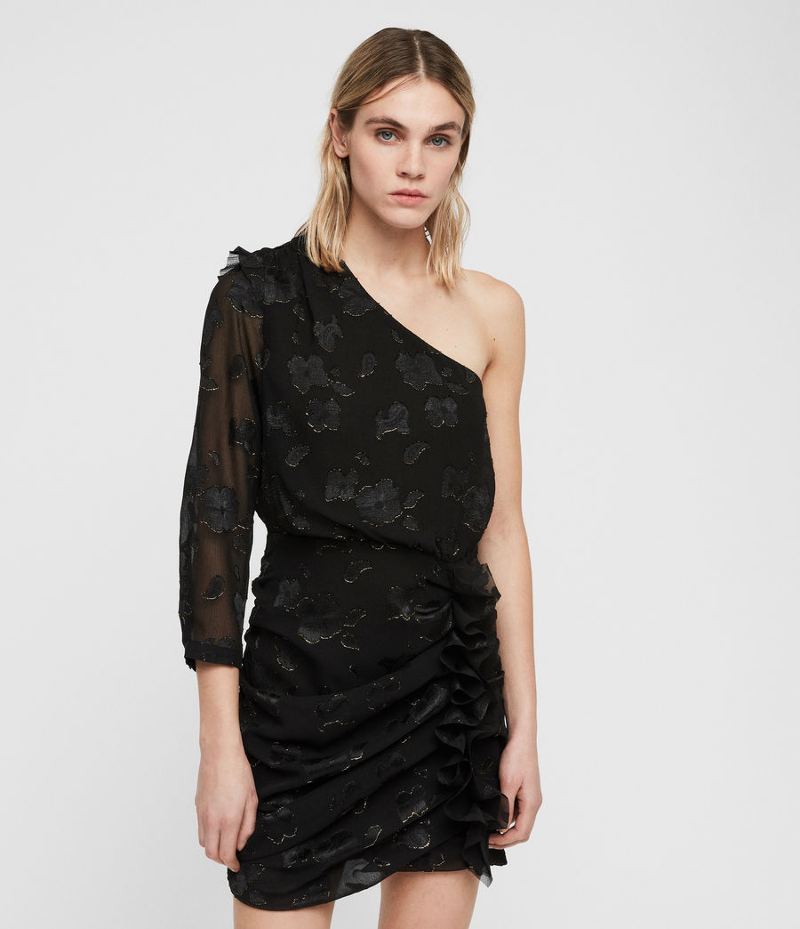 Damen Maddie Flora Kleid (black_gold) - Image 5