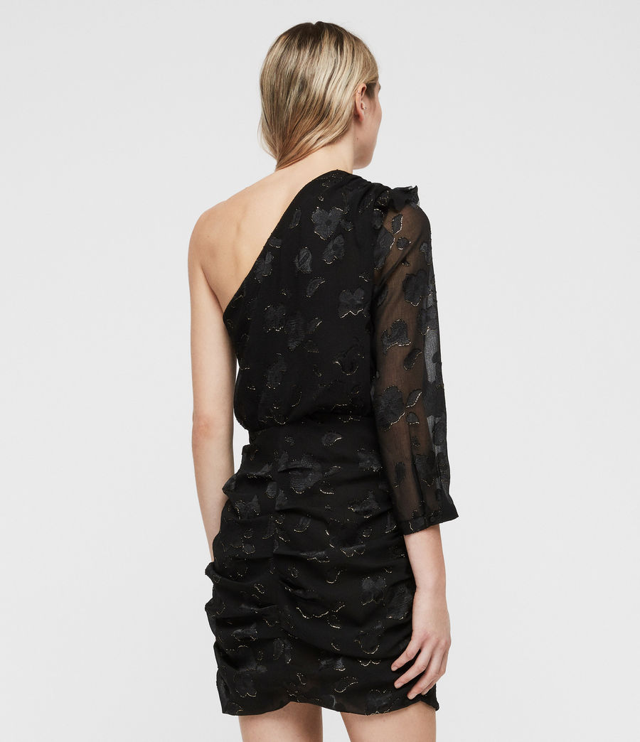 Damen Maddie Flora Kleid (black_gold) - Image 7