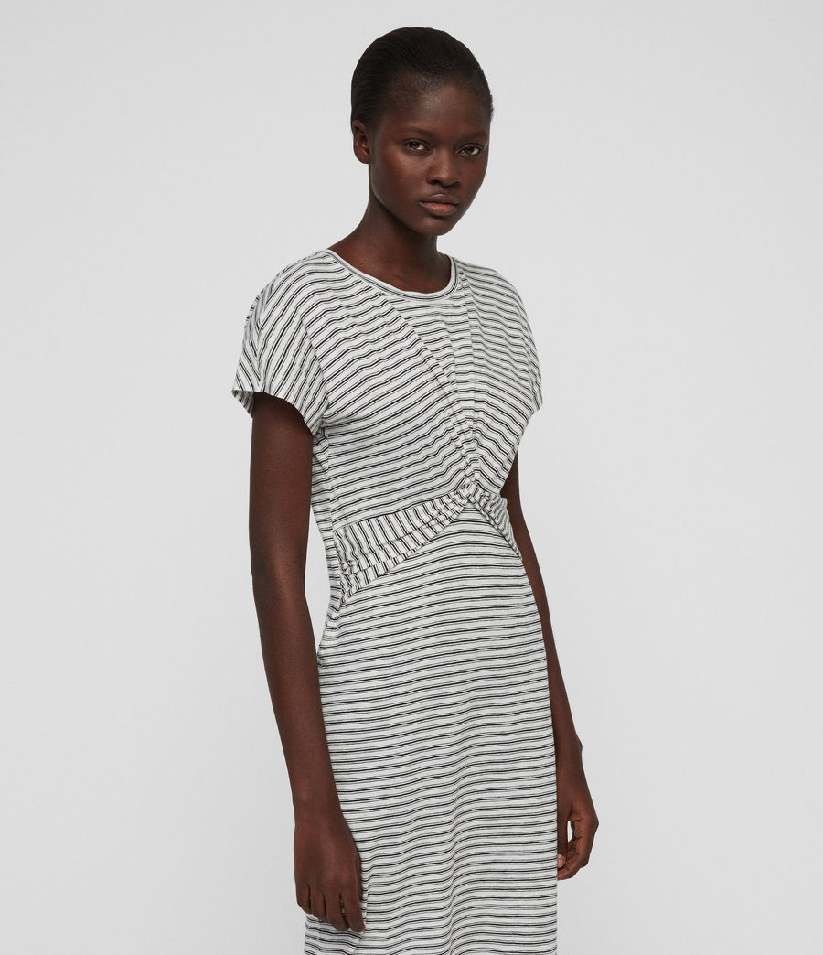 Womens Paloma Stripe Dress (ecru_black) - Image 2