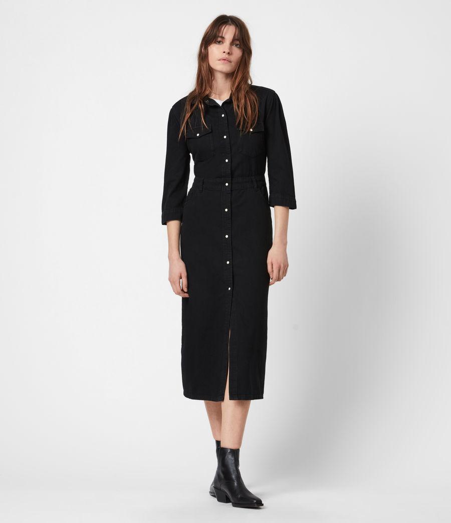 Women's Polly Denim Dress (black) - Image 1