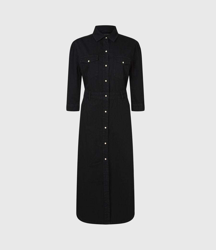 Women's Polly Denim Dress (black) - Image 2