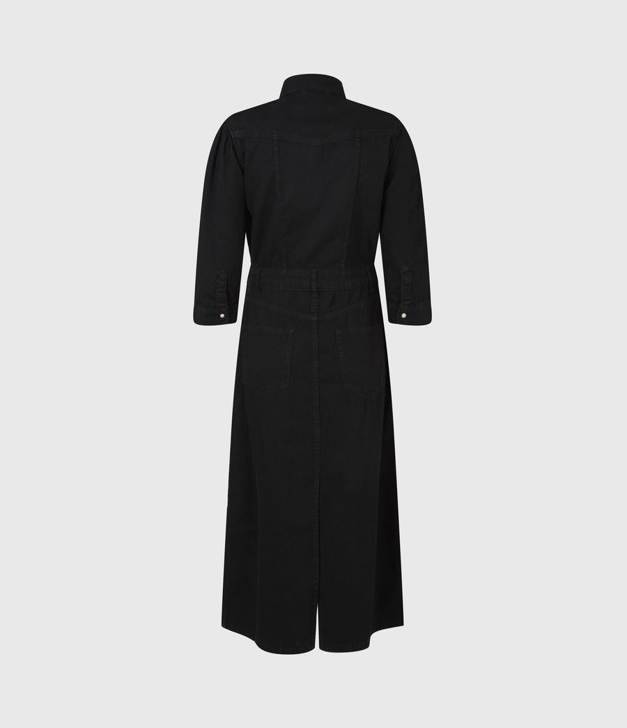 Women's Polly Denim Dress (black) - Image 3